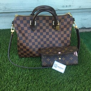 Louis Vuitton speedy 30B and wallet